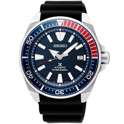 SEIKO 精工 PROSPEX 潛水機械手錶SRPB53J1-藍X黑/43.8mm
