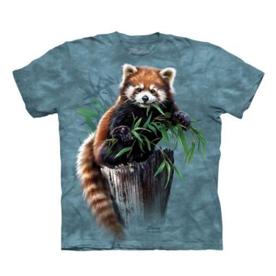 摩達客-美國進口The Mountain  覓食小熊貓 純棉環保短袖T恤