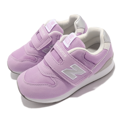 New Balance 休閒鞋 996 W 寬楦 童鞋 紐巴倫 魔鬼氈 小朋友 麂皮 穿搭 小童 紫 白 IZ996LC3-W