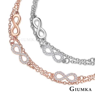 GIUMKA唇印雙鍊手鍊 精鍍正白K/玫瑰金 女士手鏈 單個價格