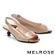 高跟鞋 MELROSE 質感時髦牛漆皮方頭魚口高跟鞋-米 product thumbnail 1