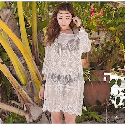 AH dream夢想女孩 雪紡蕾絲比基尼外搭罩衫C6112