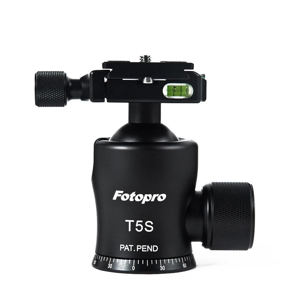 FOTOPRO T5S小蠻腰夾扣式球型雲台-承載可達25KG