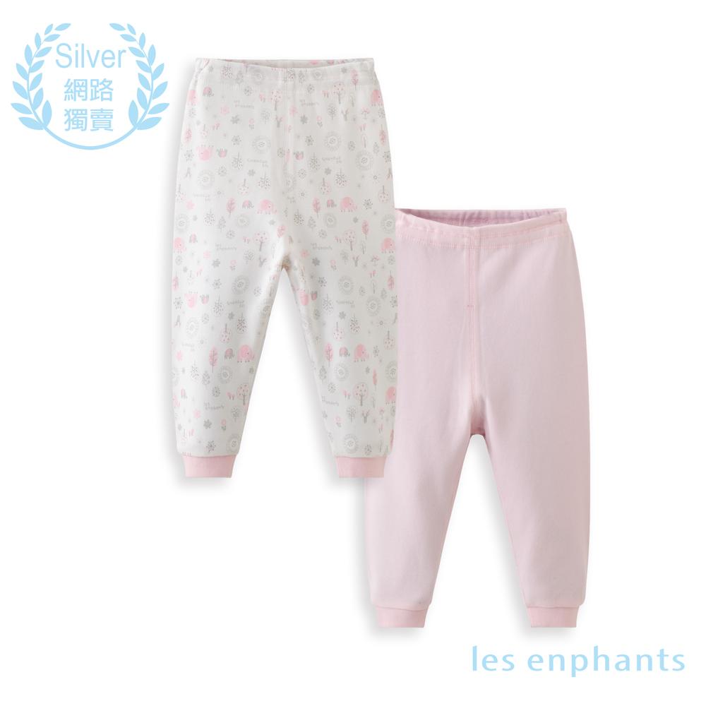 les enphants 精梳棉系列小象森林兩件組長褲