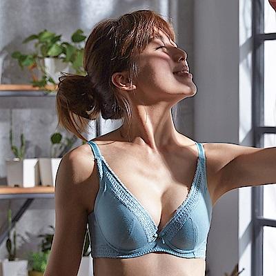 蕾黛絲-挺素面V版型 D-E罩杯內衣(水漾綠)