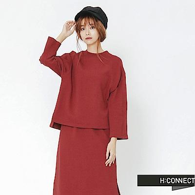 H:CONNECT 韓國品牌 女裝-休閒感兩件式套裝-紅