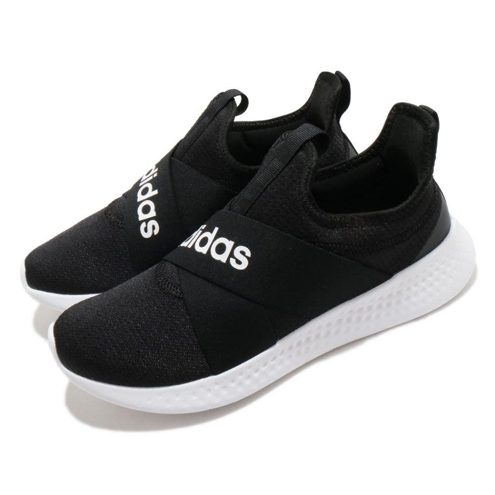adidas 休閒鞋 Puremotion Adapt 女鞋 愛迪達 襪套式 無鞋帶 好穿脫 黑 白 FX7326