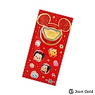 Disney迪士尼金飾 迪士尼系列金飾-黃金元寶紅包袋-TSUMTSUM款