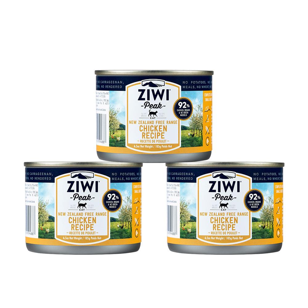 ZiwiPeak巔峰 92%鮮肉貓 雞肉 185G (一箱12罐)