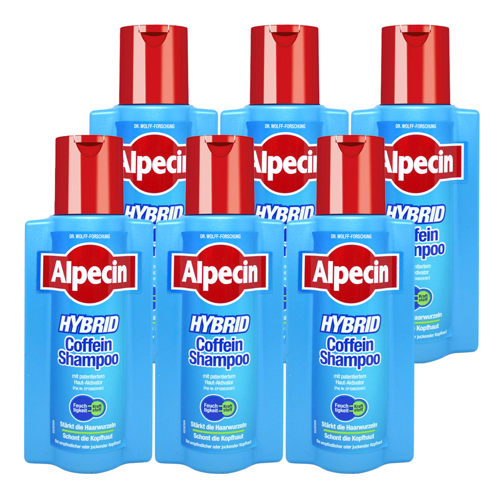 Alpecin 雙動力咖啡因洗髮精250mlx6