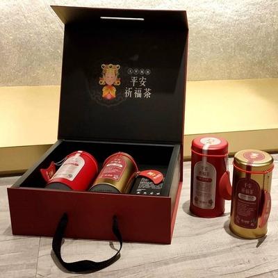 【鎮瀾宮大甲媽祖】平安祈福茶禮盒組(台茶21號紅茶包X1+東方美人茶包X1)