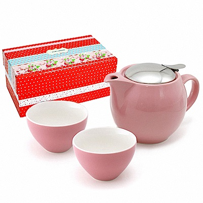 ZERO JAPAN 典藏陶瓷一壺兩杯超值禮盒組(玫瑰粉)