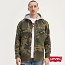 Levis 男款 襯衫連帽外套 / 迷彩工裝設計 / Oversize寬鬆長版