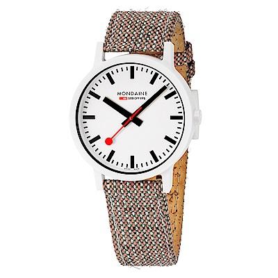 MONDAINE 瑞士國鐵 essence系列腕錶-41mm/米色