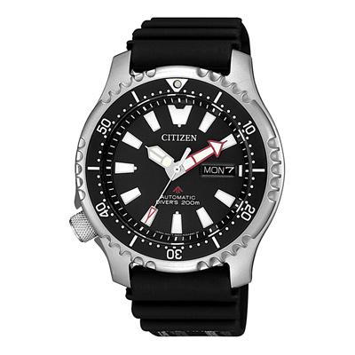 CITIZEN 遨遊天地機械腕錶-黑(NY0080-12E)/42mm