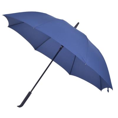 2mm 日系無印風 彎手柄高爾夫防風直傘 (深藍)
