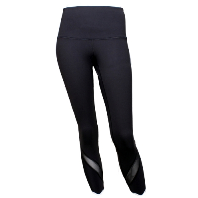 【lululemon】Wunder Under HR Crop Sclp高腰瑜珈運動褲/黑(LW6BANS BLK)