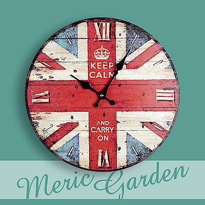 【Meric Garden】風格仿舊裝飾壁掛式時鐘/壁鐘/掛鐘(不列顛工業風)