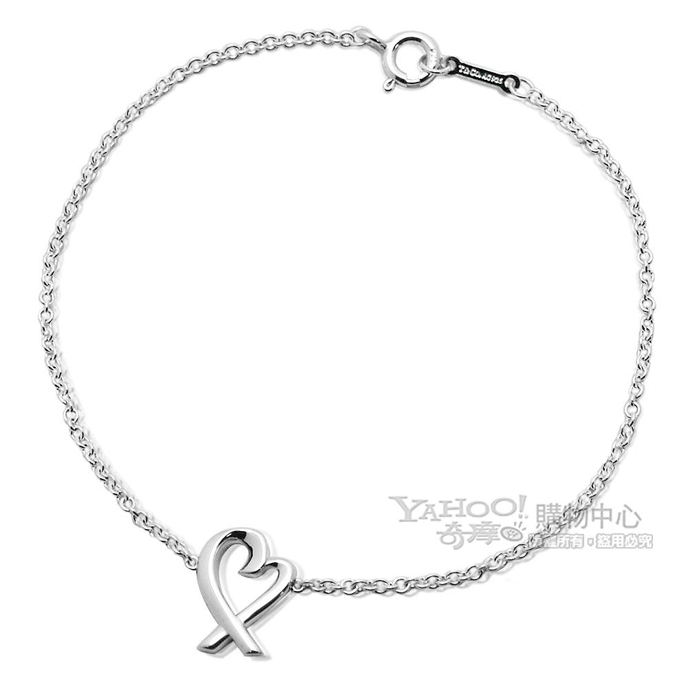 Tiffany&Co. Loving Heart 墜飾純銀手鍊