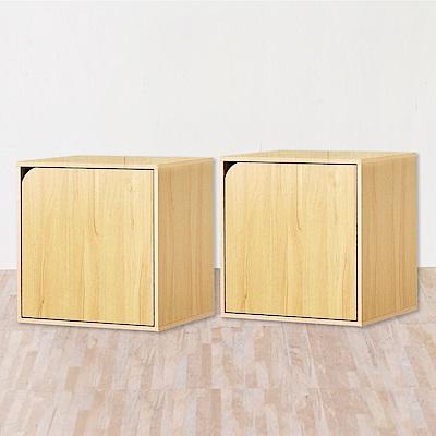 《HOPMA》DIY巧收漾彩單門櫃/收納櫃(雙入)-寬41.5 x深30 x高41cm