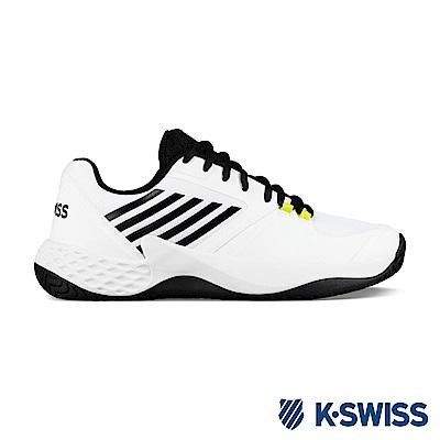 K-SWISS Aero Court輕量網球鞋-男-白/黑/霓黃