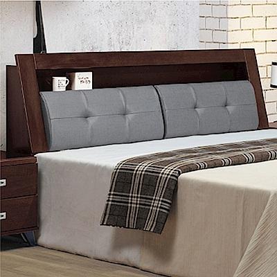 綠活居 高柏斯6尺貓抓皮革雙人加大實木床頭箱(不含床底)-182.5x29x101cm免組