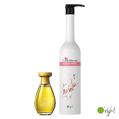 歐萊德 咖啡因養髮液100ml+桃花豐盈洗髮精1000ml