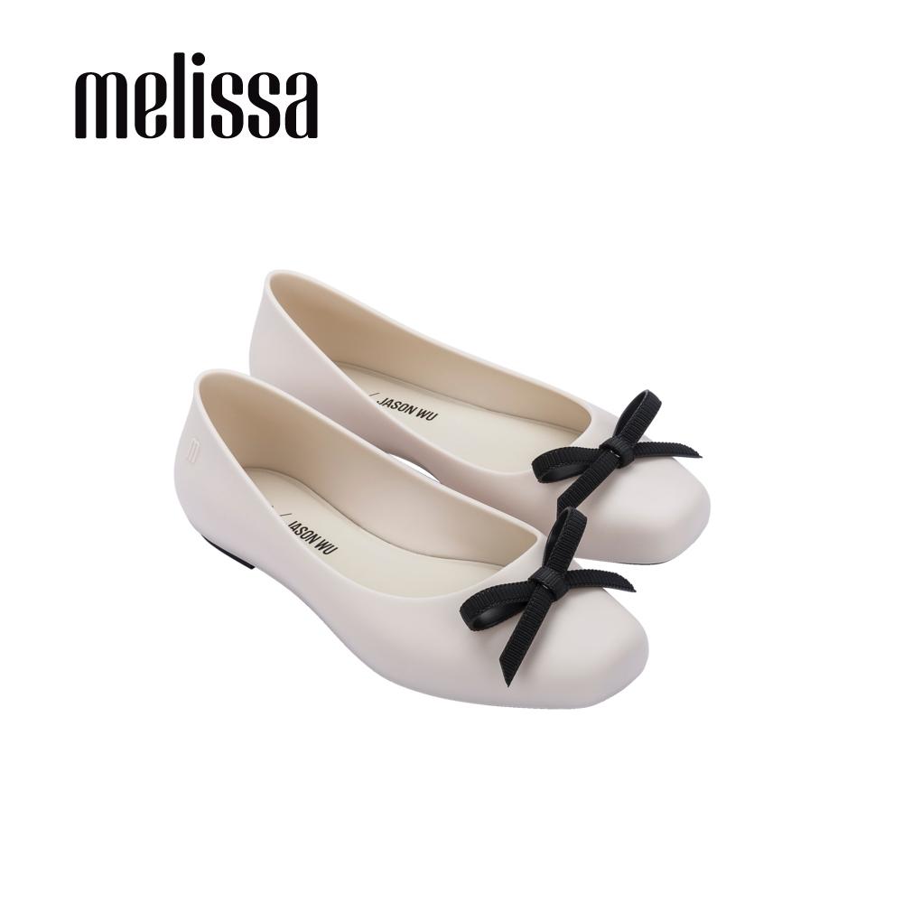 Melissa x Jason Wu AURA蝴蝶結平頭娃娃鞋-米黑