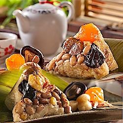 預購-福源肉粽 招牌雙粽組(花生蛋黃香菇栗子x1盒櫻花蝦干貝x1盒,共2盒)