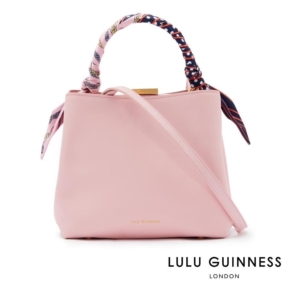 LULU GUINNESS RUBY 絲巾手提/側背包 (粉)