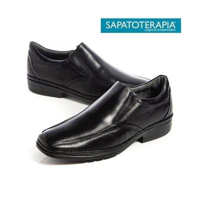 SAPATOTERAPIA 巴西超輕量直套皮鞋-黑(另有咖)