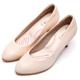 DIANA知性簡約閃電壓紋質感真皮跟鞋-漫步雲端輕盈美人款-米白 product thumbnail 1