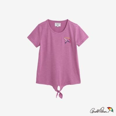 Arnold Palmer-女裝- 前下擺綁結上衣-紫