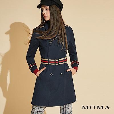 MOMA 雙排釦織帶風衣_2色