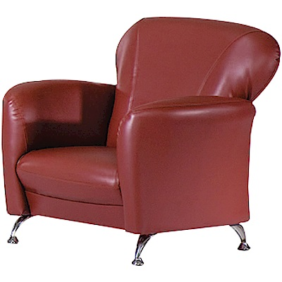 綠活居 卡迪巴皮革單人座沙發椅(五色)-80x73x80cm免組