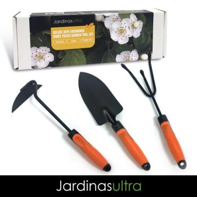 【Jardinasultra】加拿大 豪華園藝三件組-三角特殊鋤 / 鏟子 / 三爪耙