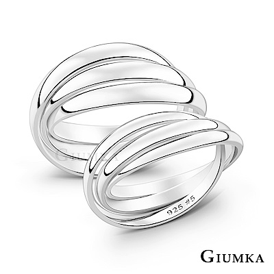 GIUMKA情侶純銀戒指925銀尾戒三環戒造型 男女情人戒指 單個價格