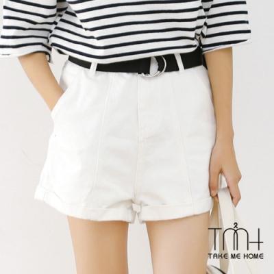 反摺高腰短褲-2色 -TMH