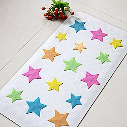 vanibaby浴室防滑墊/浴盆止滑墊 (立體圖案超強吸力)--粉彩星星