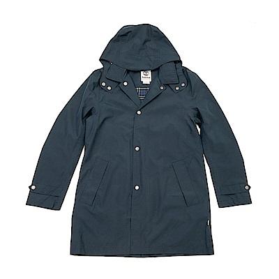 Timberland 男款深藍色中長款風衣外套 | A1W9D433