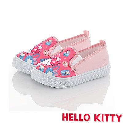 HelloKitty 45周年限量款童鞋 輕量減壓防臭帆布懶人鞋-桃