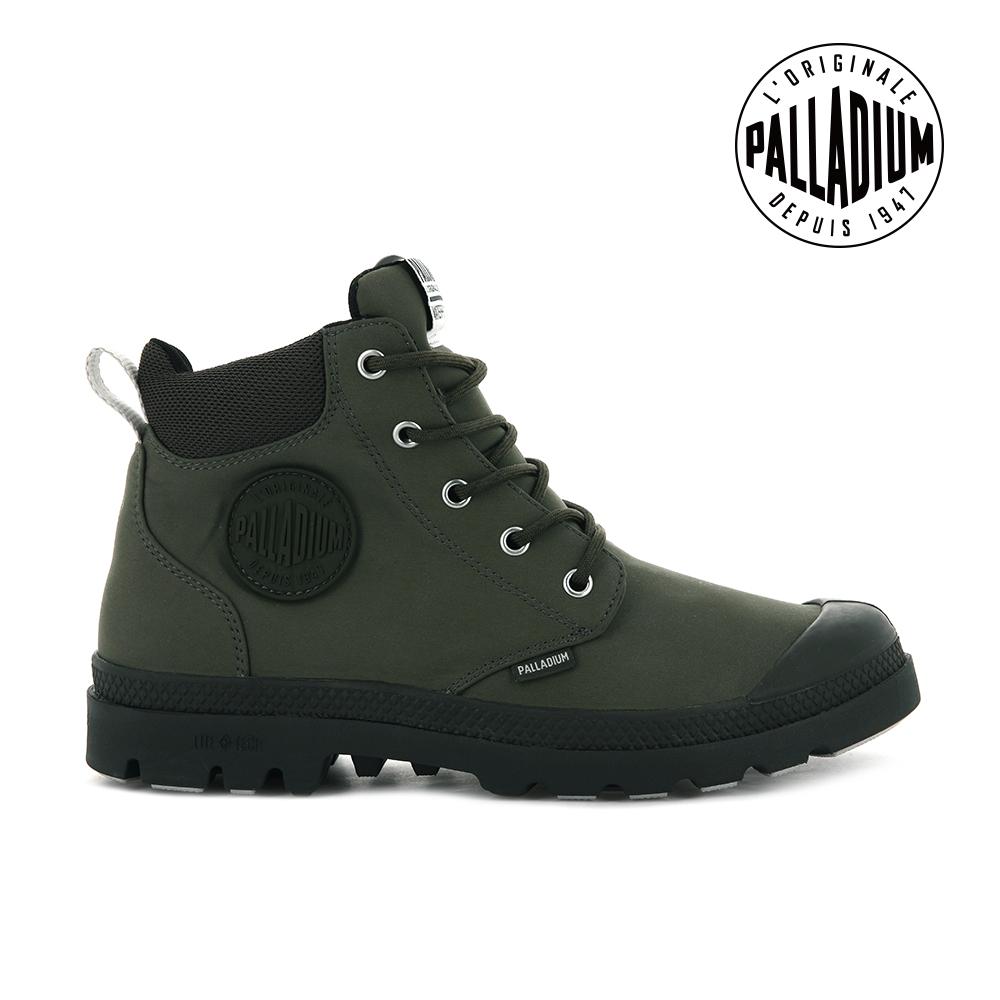 PALLADIUM Pampa Lite+ Cuff WP輕量防水靴-中性-墨綠