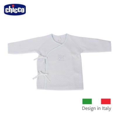 chicco-菱點夾棉肚衣-藍