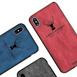 iStyle iPhone X/XS 5.8吋 麋鹿布紋手機殼