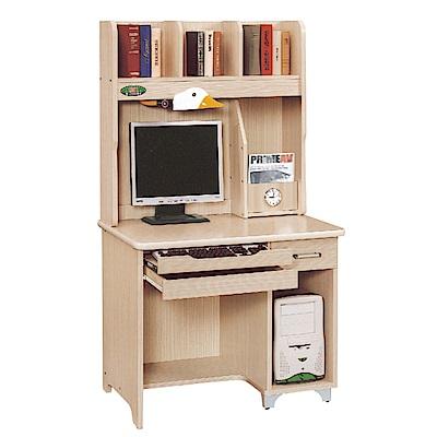 綠活居 卡亞多時尚3尺多功能書桌/電腦桌組合(上+下座)-91x61x167cm免組