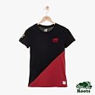 ROOTS 女裝- 周年系列色塊短袖T恤-紅色