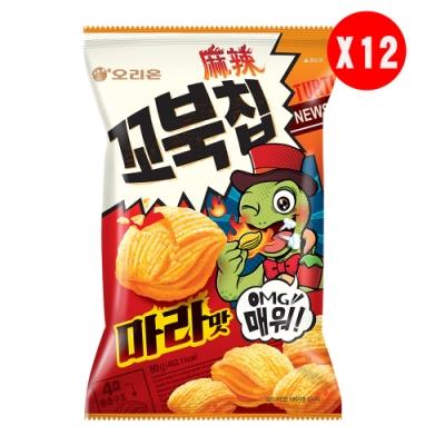 好麗友 烏龜玉米脆片-麻辣味(80gx12包/箱)