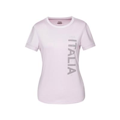 FILA 女抗UV吸濕排汗T恤-粉紫 5TEV-1315-PL