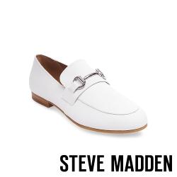 STEVE MADDEN-KERRY 經典金屬扣牛津樂福鞋-白色
