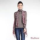 KeyWear奇威名品    趣味豹紋造型開襟背心-綜合色